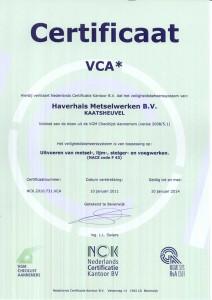 VCA-certivicaat